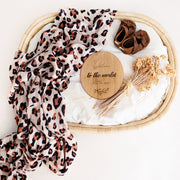 Luxury Gift Set - Miilk Muslin Leopard Print + HotTea Mama Milk's Up/Newborn Wonder