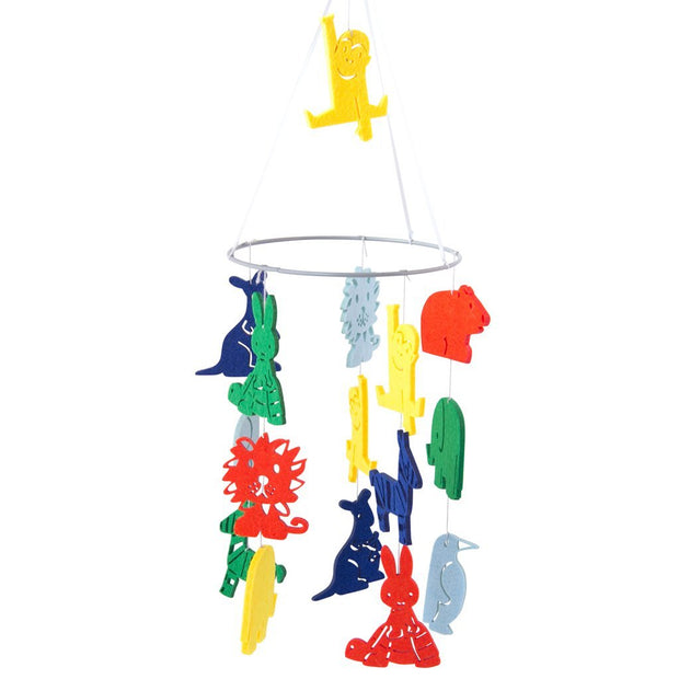 Miffy Felt Mobile in the Zoo - Bright Colours Global Affairs
