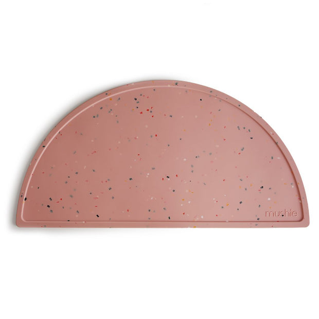 Mushie Silicone Placemat - Powder Pink Confetti Mushie