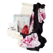 Luxury Gift Set - Miilk Muslin Black Peonies + Baby Art My Lovely Belly