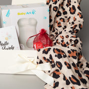 Luxury Gift Set - Miilk Muslin Leopard + Baby Art My Lovely Belly
