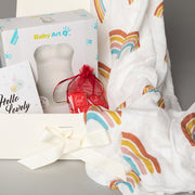 Luxury Gift Set - Miilk Muslin Rainbow + Baby Art My Lovely Belly