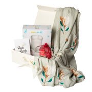 Luxury Gift Set - Miilk Muslin Proteas + Baby Art My Lovely Belly