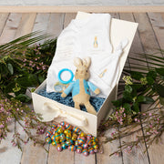 Personalised Peter Rabbit Babygrow + Jiggle Attachable Gift Set