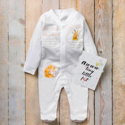 Personalised Flopsy Bunny Babygrow + First Booties Gift Set