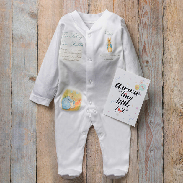 Personalised Peter Rabbit Clothing + First Booties Gift Set