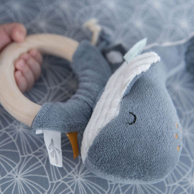Little Dutch Ring Rattle Whale - Ocean Blue