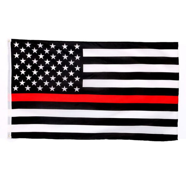Thin Red Line US American Flag