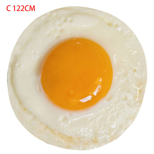 Creative 3D Poached Egg Printing Beach Towel Food Creations Food Tapestry Delicate Novelty Blanket Perfectly Round Throw S/M/L