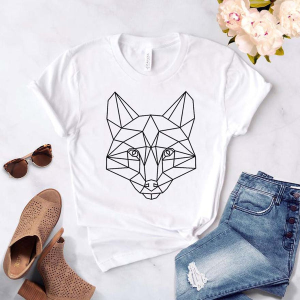 Geometric Fox T-shirt