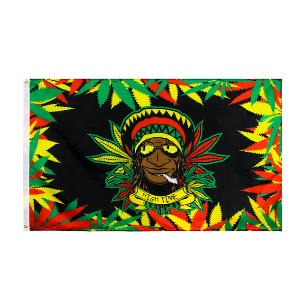Rasta Pot Leaf Flag