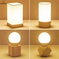 Modern Nordic Wood table lamp