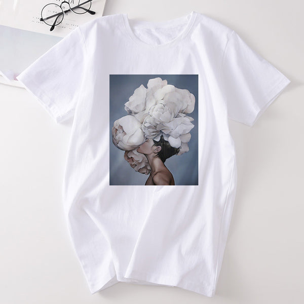 Aesthetic Feather Flowers T-Shirts