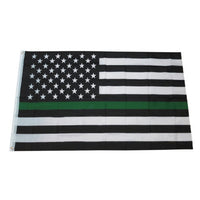 Thing Green Line American Flag