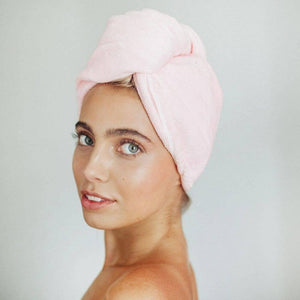 Quick Drying Hair Towel Pink