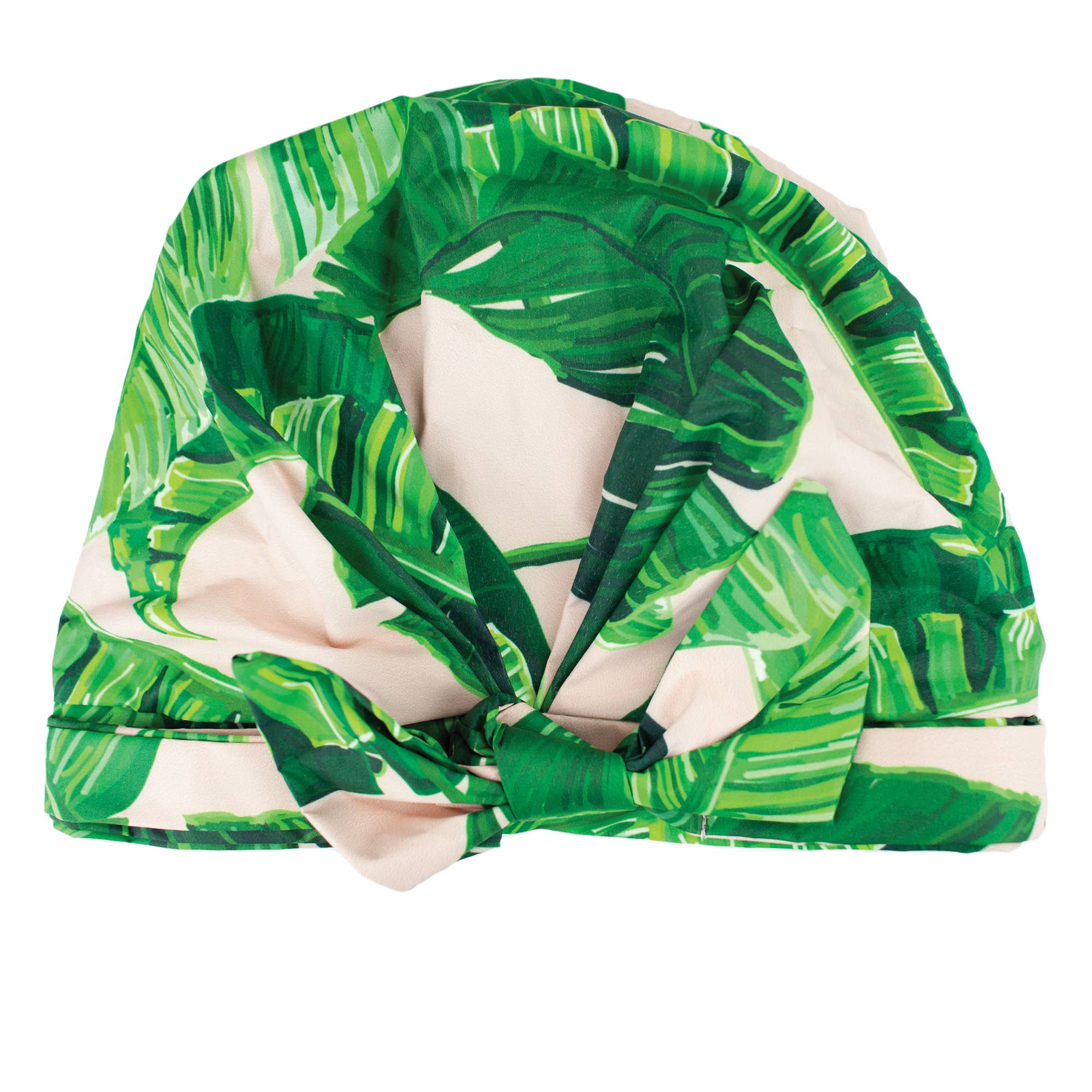Elevated Shower Cap Palm Print