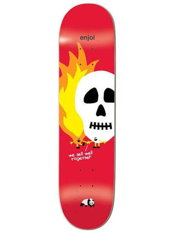 skulls and flames red