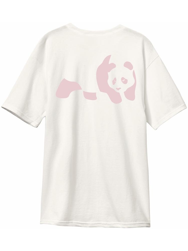 premium panda custom dye bone white short sleeve tshirt