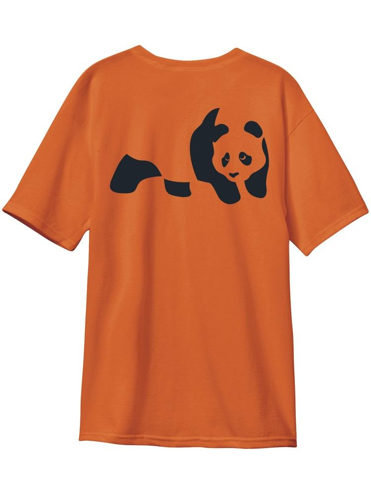 panda custom dye sunset orange s/s premium tee