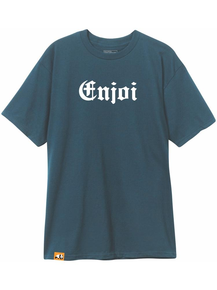 gangsta short sleeve slate blue tshirt