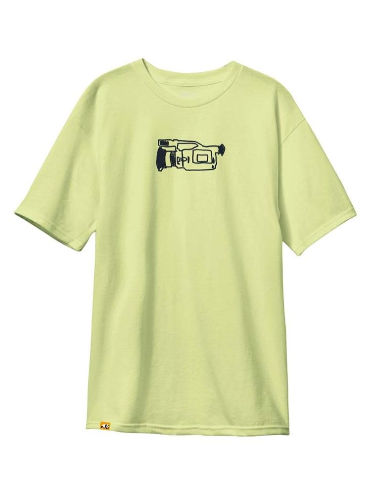 glitch pear green custom dye short sleeve t-shirt