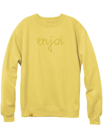 car crash flat yellow premium crew sweatshirt