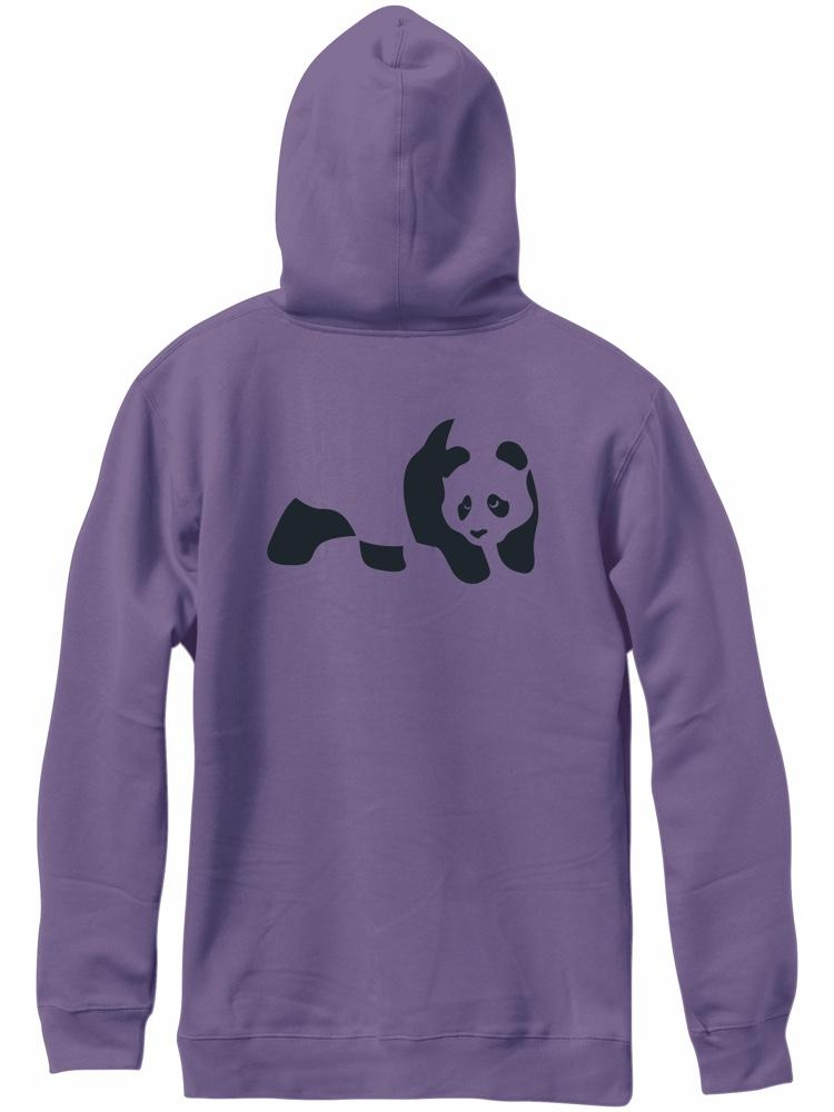 tonal panda custom dye grape hoodie