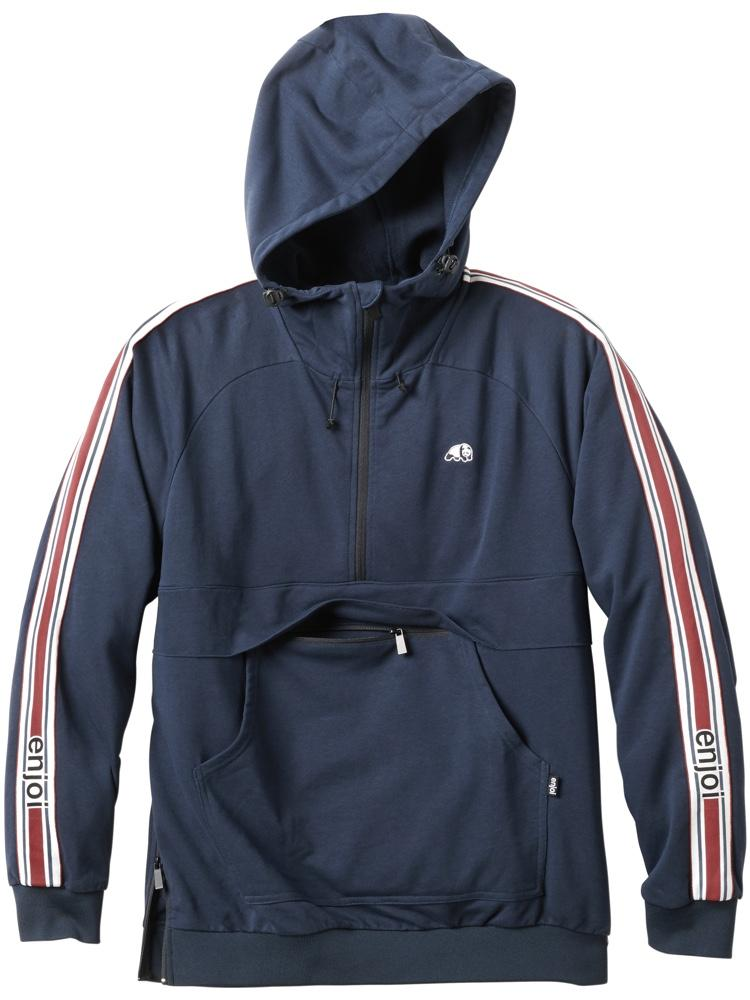 even further navy hoodie