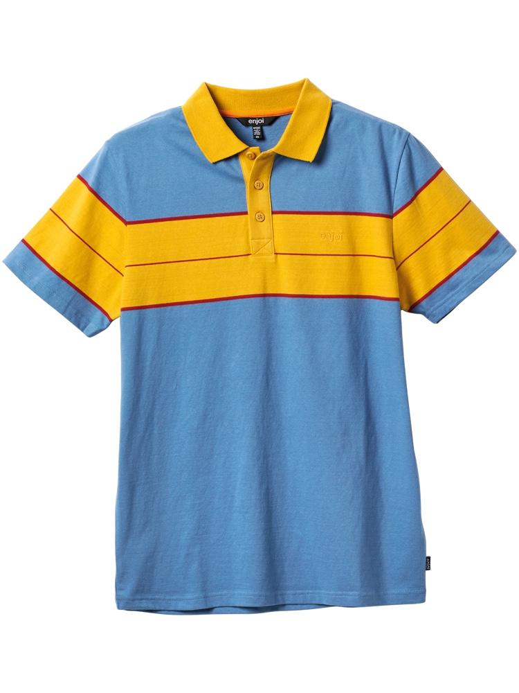 station slate blue polo shirt
