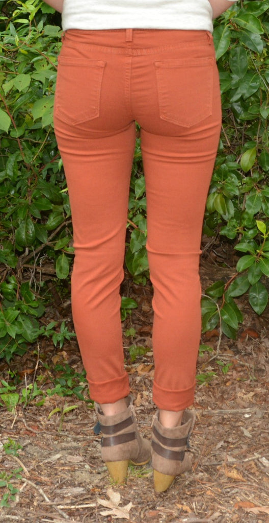 Colored Skinnies - Burnt Orange