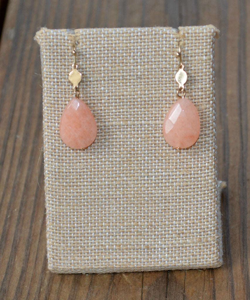 Peach and Gold Earrings