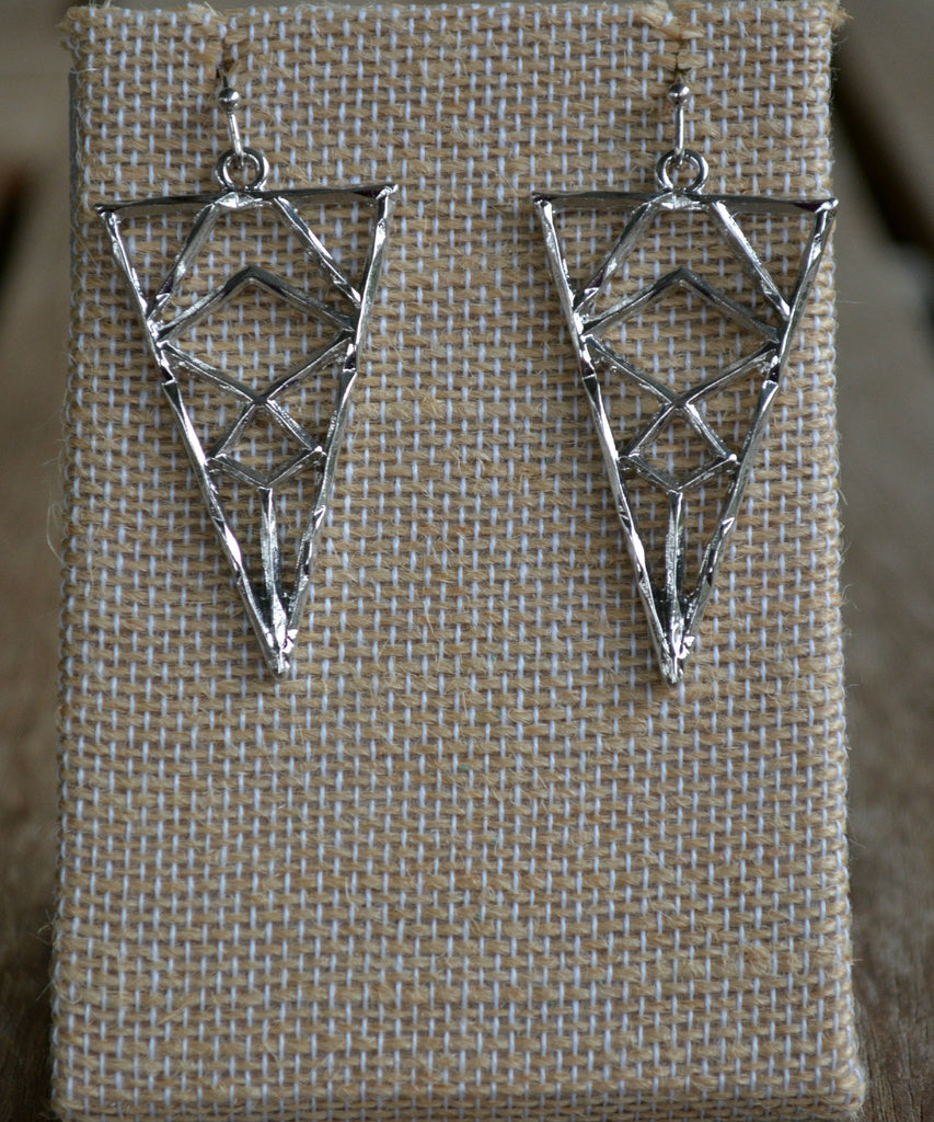 Arrowhead Earrings-Silver