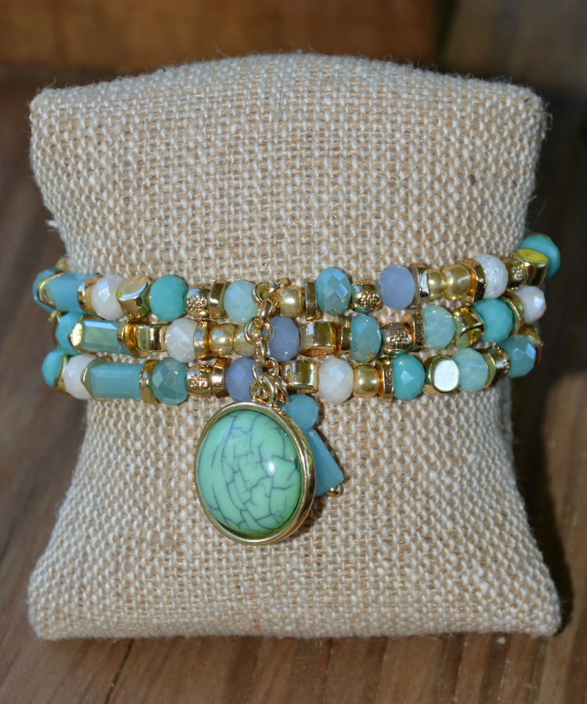 Sweet As Candy Bracelet-Turquoise