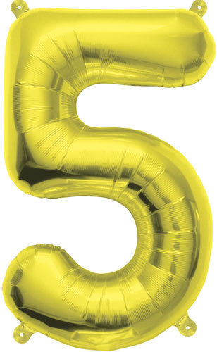 "16"" Number Balloons :: Gold"