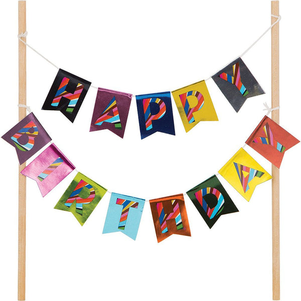Happy Birthday Cake Bunting Topper