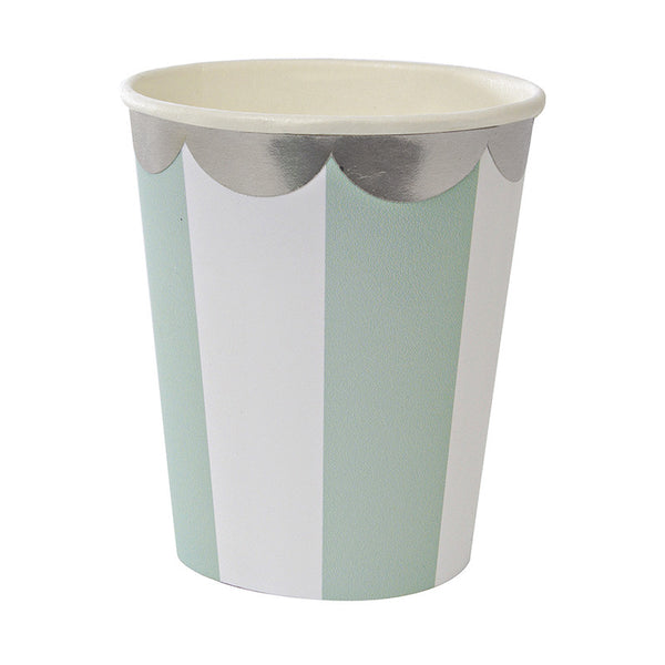 Toot Sweet Aqua Stripe Party Cup
