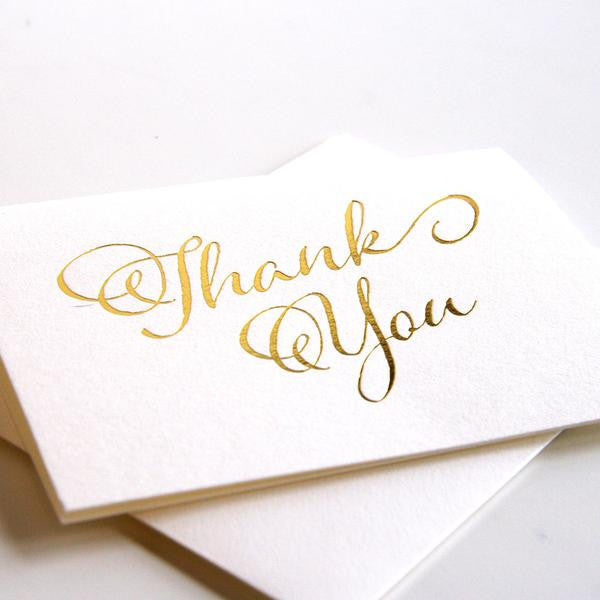 Gold Thank You Card Boxed Set