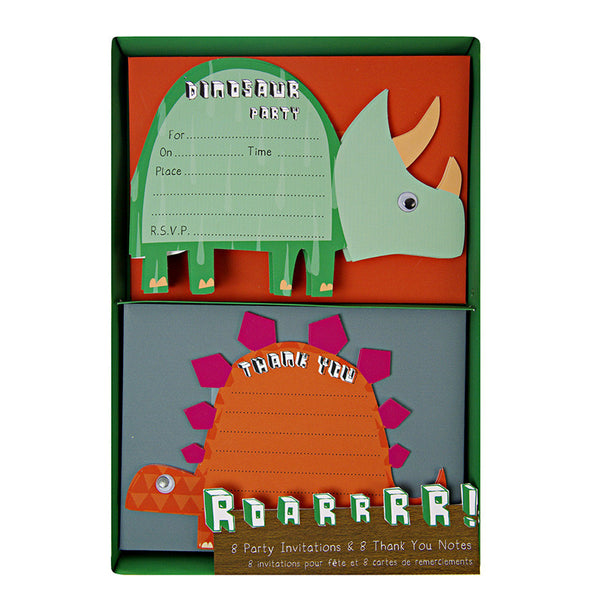 Roarrr Dinosaur Invitation & Thank You