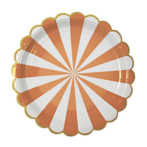 Toot Sweet Orange Stripe Large Plate