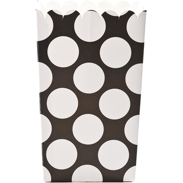 Large Popcorn Box :: Black Polkadot
