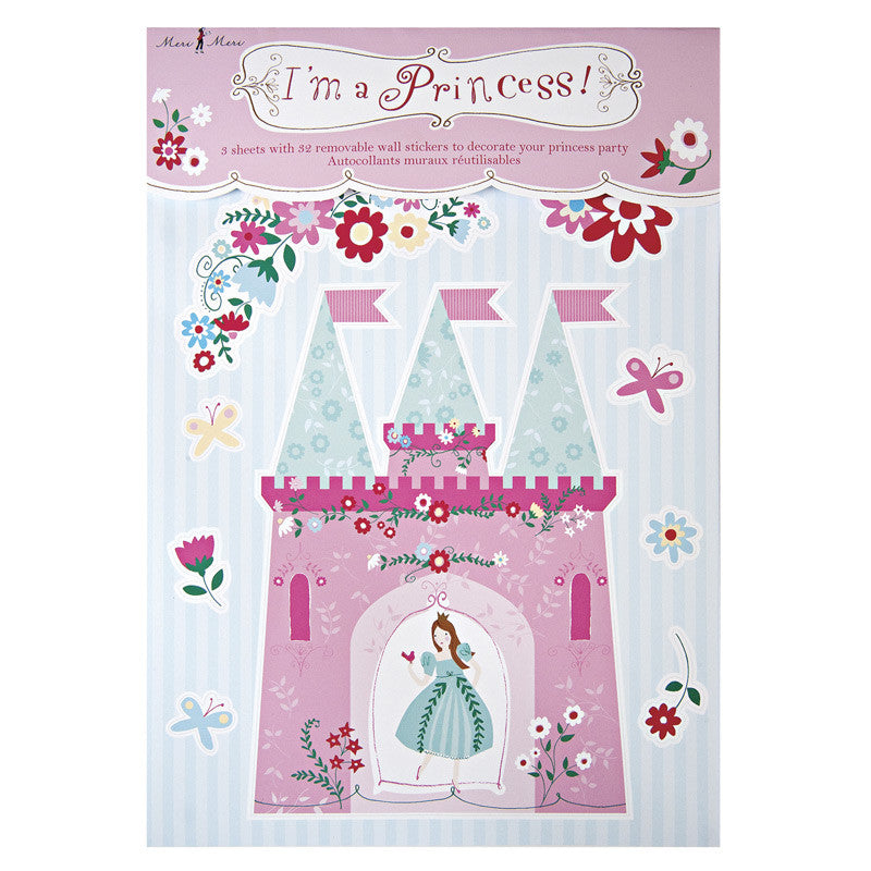 Princess Party Removable Wall Stickers