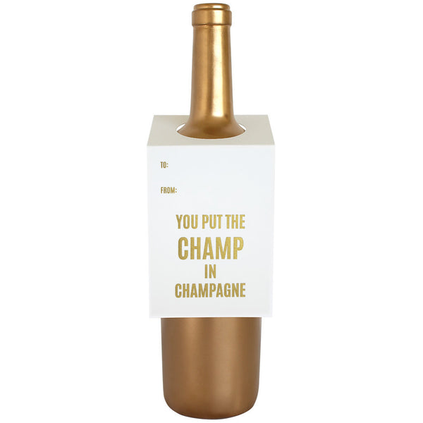 Champ in Champagne Wine Tag