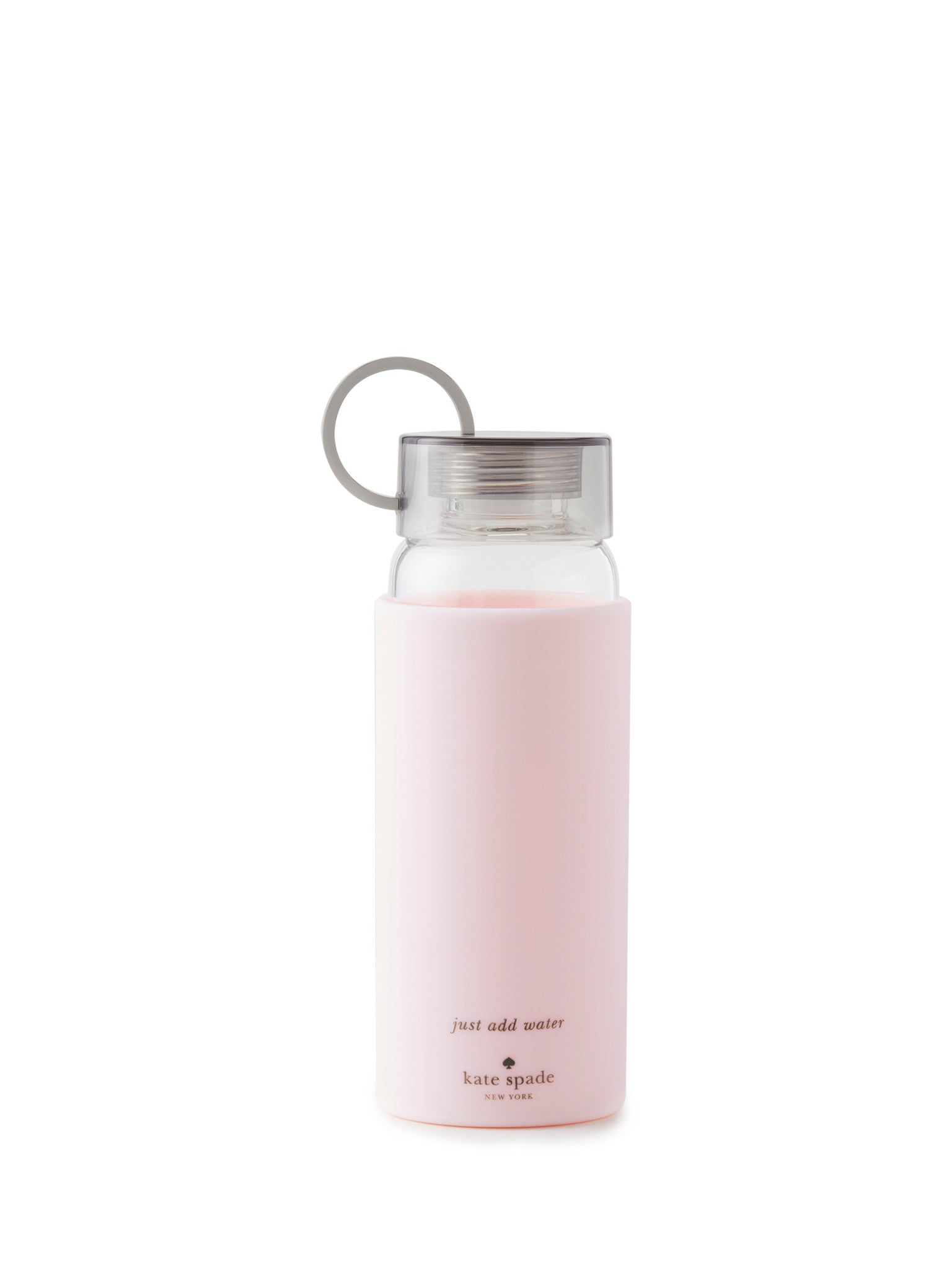 Kate Spade Pink Water Bottle Glass Blush