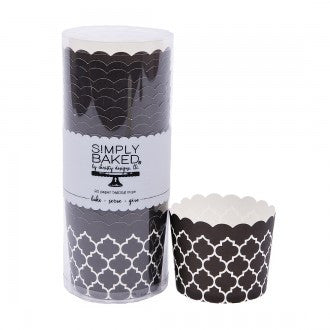 Large Baking/Treat Cup :: Black Quadrafoil