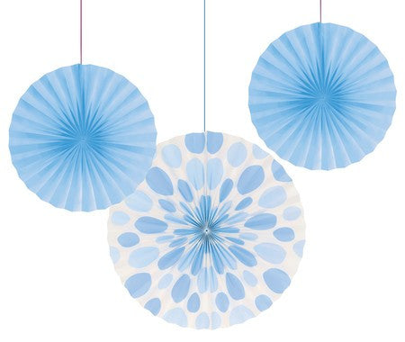 Light Blue Paper Fans
