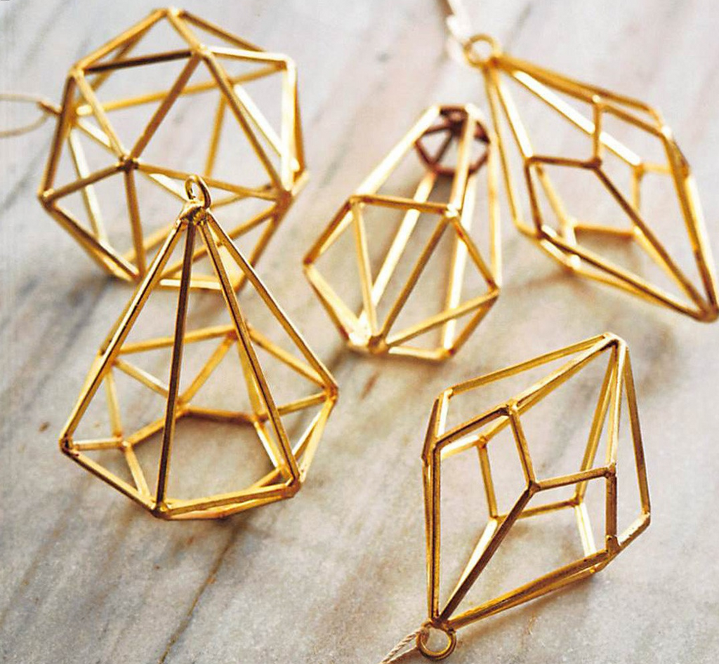 Geometric Gem Ornament