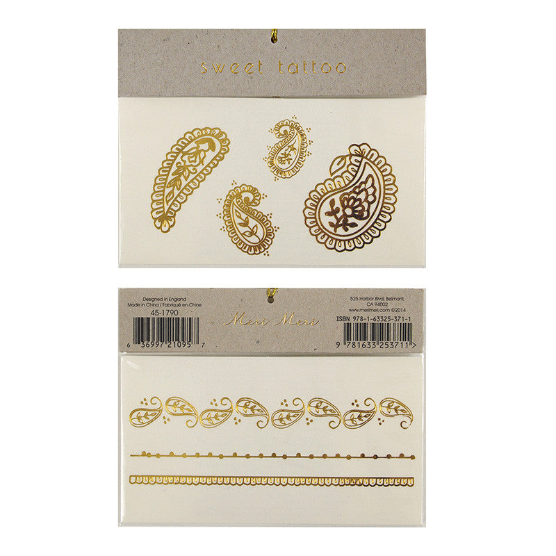Temporary Tattoos :: Gold Paisley