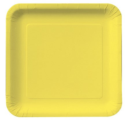 Square Plates :: Mimosa Yellow