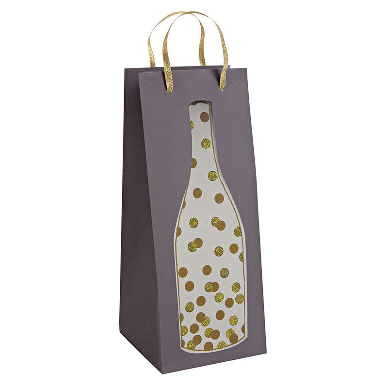 Gold Confetti Bottle Bag