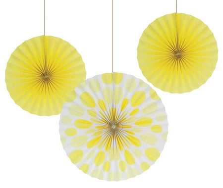 Yellow Paper Fans